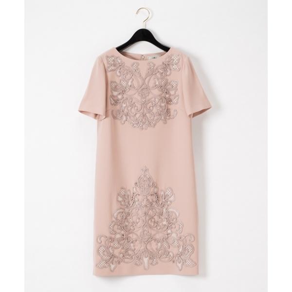 コード刺繍袖付ワンピース/グレースコンチネンタル(GRACE CONTINENTAL)