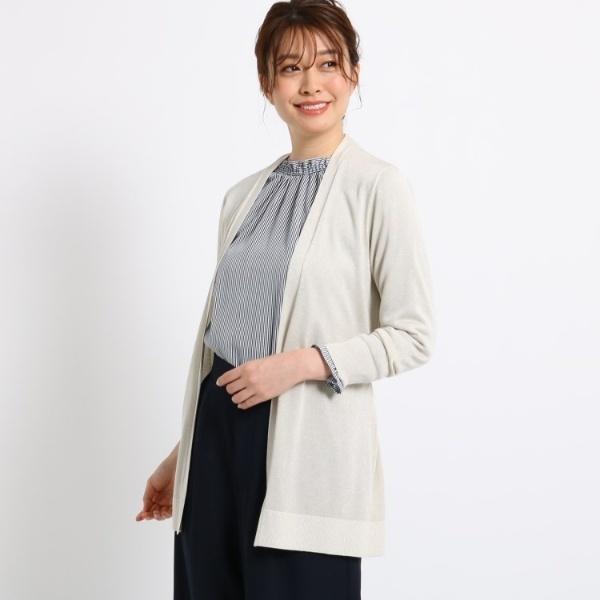 【洗える】シャイニーラメ羽織りカーディガン/スーナウーナ(SunaUna)