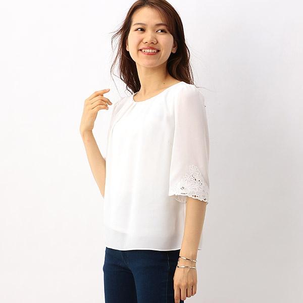 フラワー袖刺繍ブラウス/レッセパッセ(LAISSE PASSE)