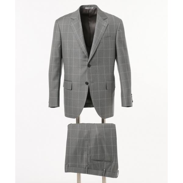 DORMEUIL AMADEUS365 ウィンドーペン スーツ 背抜 ノータック ジェイ プレス メン J.PRESS MEN 敬老の日 新築祝 銀婚式 通販 夏祭り