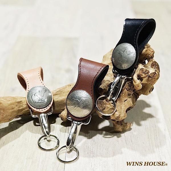 オイルレザーキーホルダー1$コイン付/ウインズハウス(WINS HOUSE)