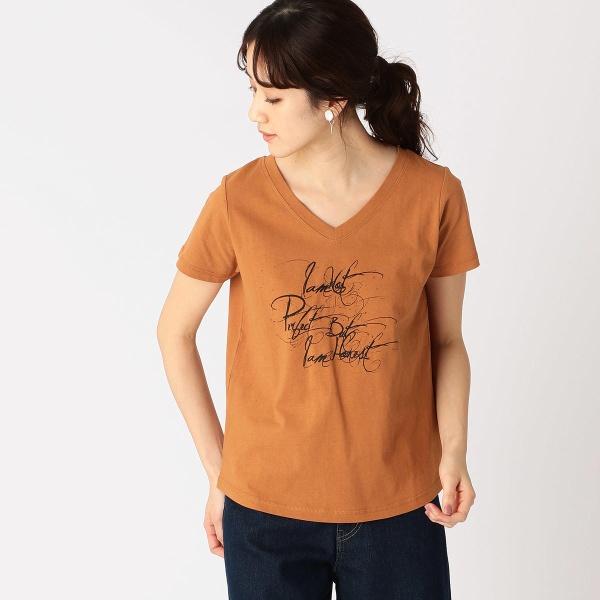 【SALE】- メッセージプリント Vネック Tシャツ/コムサイズムレデイス(COMME CA ISM)