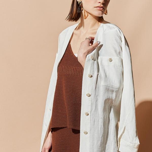 ベルト付きワークシャツジャケット/エウクレイド(EUCLAID)