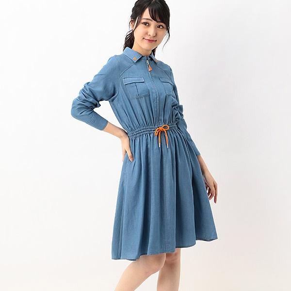 ジップアップデニムシャツ ワンピース/マリークヮント(MARY QUANT)