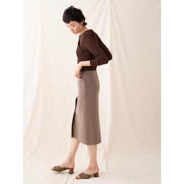 CARREAN フロントタックタイトスカート/ソフィラ(sophila)