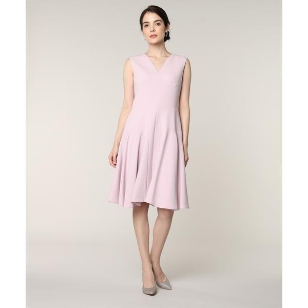 《M Maglie le cassetto》Vネック切り替えドレス/ef-de(エフデ)(ef-de)