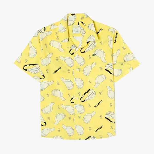 アーバングラフィックデザイン ショートスリーブオープンネックシャツ/ラコステ(LACOSTE)