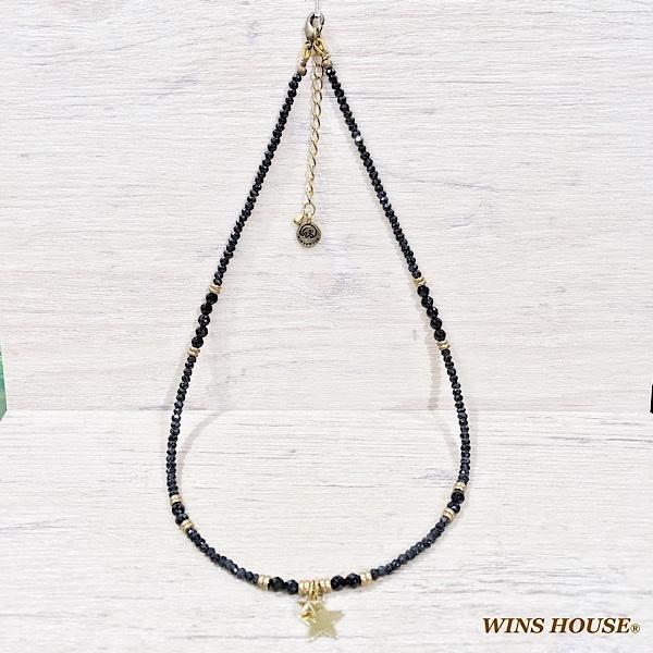 【チョーカー】オニキス&ブラックスピネル/ウインズハウス(WINS HOUSE)