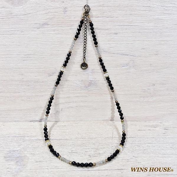 【チョーカー】オニキス&ラブラドライト/ウインズハウス(WINS HOUSE)