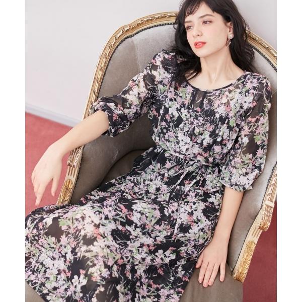 【TOCCA LAVENDER】Floral Chiffon ドレス/トッカ(TOCCA)