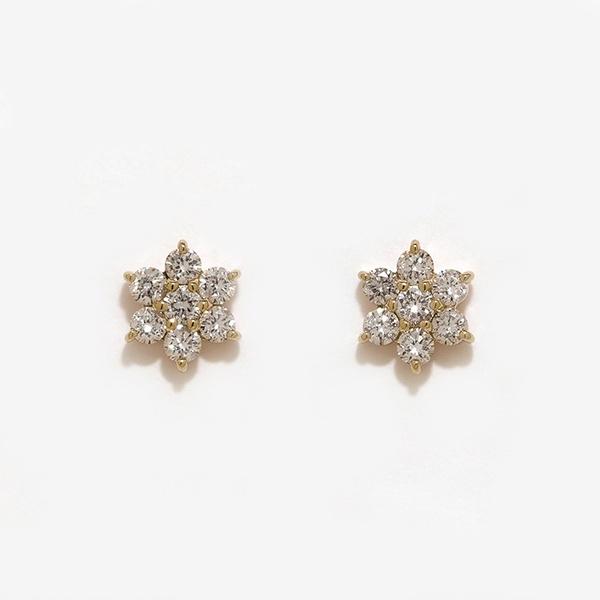 K18 イエローゴールド ダイヤモンド ピアス(0.3ct)/エステール(ESTELLE)
