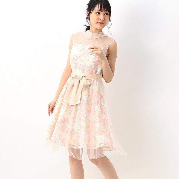 【結婚式・二次会・パーティ】チュール&レース フラワーワンピース/アンフィニ(INFINE)