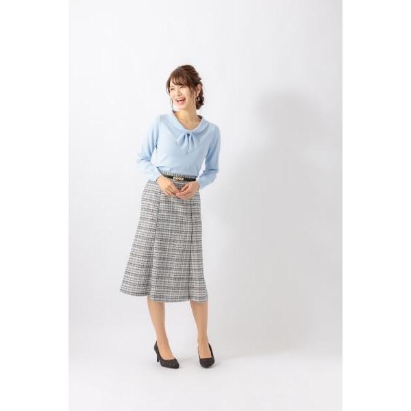 【20春夏新作】ツィードパイピング付マーメイドスカート/カールパークレーン(Karl Park Lane)