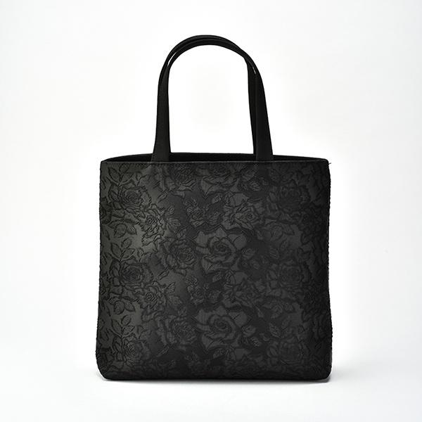 岩佐謹製 ジャカードブラックフォーマルトートバッグ/喪服/礼服/ソリテール(SORITEAL)