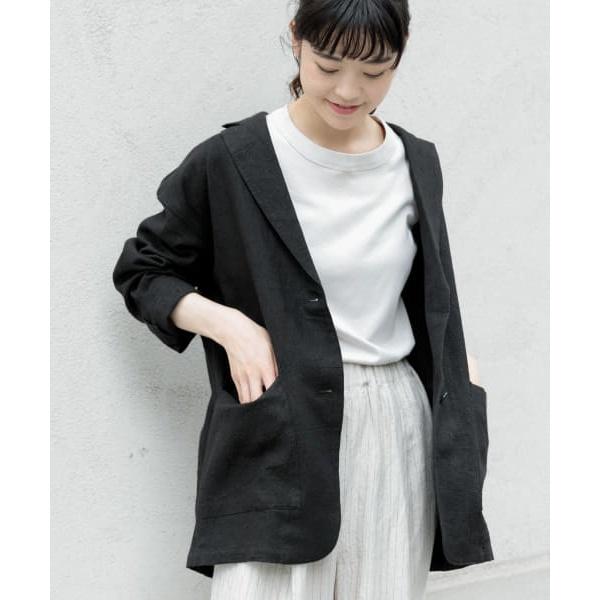 レディスジャケット(リネンテーラードジャケット)/かぐれ(kagure)