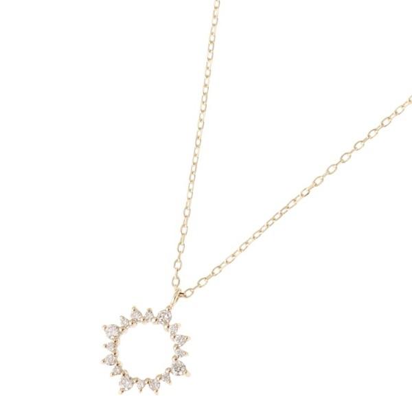 ダイヤモンド 放射 ネックレス/ココシュニック(COCOSHNIK)
