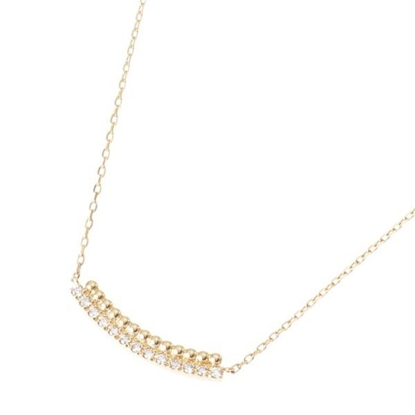 K18ダイヤモンド 丸玉アーチ ネックレス/ココシュニック(COCOSHNIK)