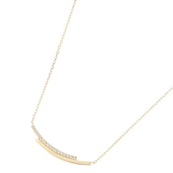 K18ダイヤモンド オーバーラップ ネックレス/ココシュニック(COCOSHNIK)