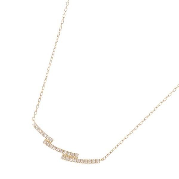 K18ダイヤモンド ステップアーチ ネックレス/ココシュニック(COCOSHNIK)