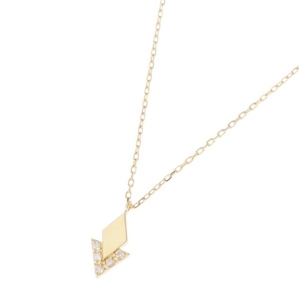 K18ダイヤモンド ジオメモチーフひし形 ネックレス 大/ココシュニック(COCOSHNIK)