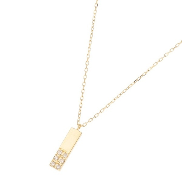 K18ダイヤモンド ジオメモチーフ長角 ネックレス/ココシュニック(COCOSHNIK)
