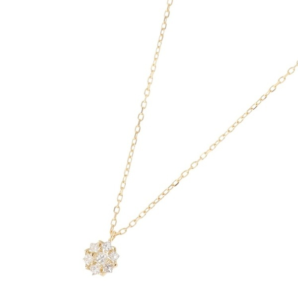 K18ダイヤモンド プリンセスカット取巻き ネックレス/ココシュニック(COCOSHNIK)