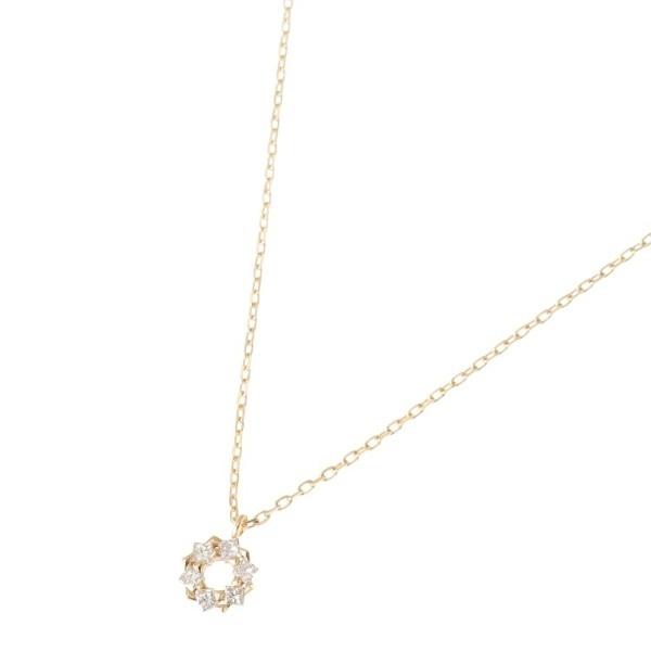 ダイヤモンド プリンセスカットフープ ネックレス 小/ココシュニック(COCOSHNIK)