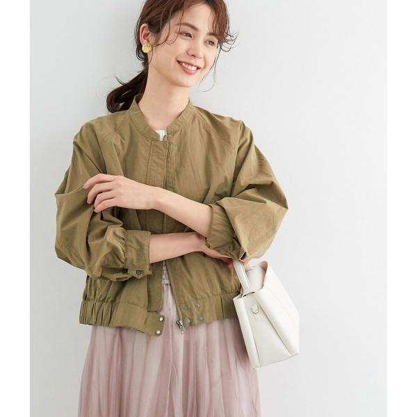 【店舗限定】ペーパーコットンノーカラーブルゾン/ロペ(ROPE')