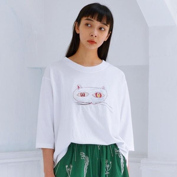 アーティストコラボ企画「両方ともすき」プリント×刺しゅうTシャツ/スーパーハッカ(SUPER HAKKA)