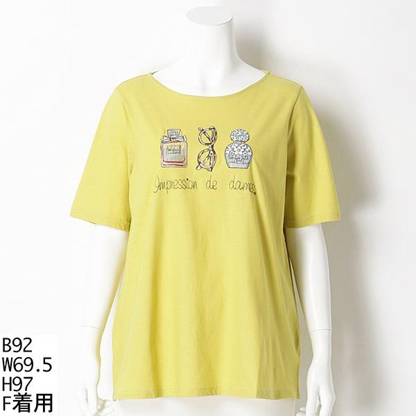 刺繍入りTシャツ/アルディラ(AL・DI・LA)