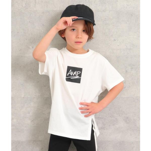 SALE - フロントスリットビッグTシャツ ランキング総合1位 新作からSALEアイテム等お得な商品満載 アナップキッズ ANAP GIRL KIDS ガール