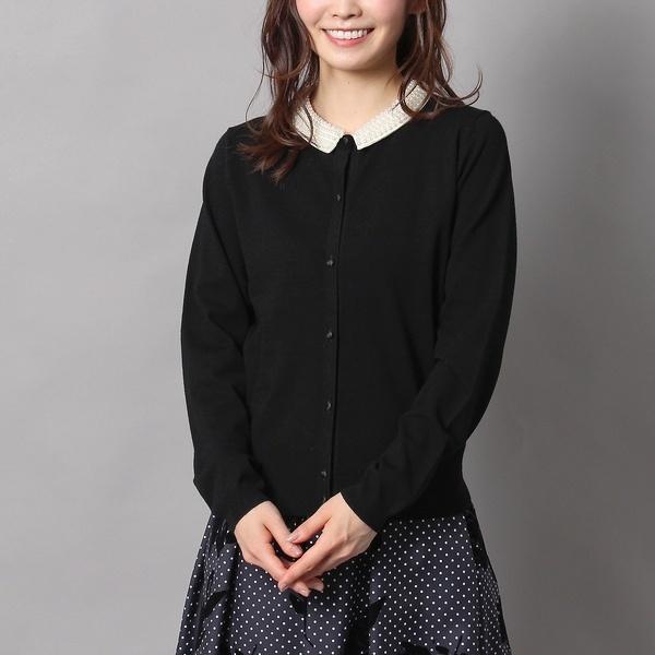 【人気のため追加生産決定】パール襟ニットカーディガン/ローズティアラ(Rose Tiara)