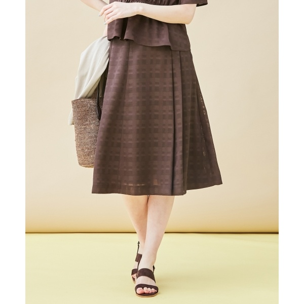 【洗える】からみチェック スカート/ジェイ・プレス レディース L(J.PRESS LADIES L)