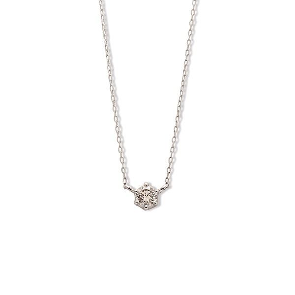 プラチナ ダイヤモンド ネックレス(0.15ct)/エステール(ESTELLE)