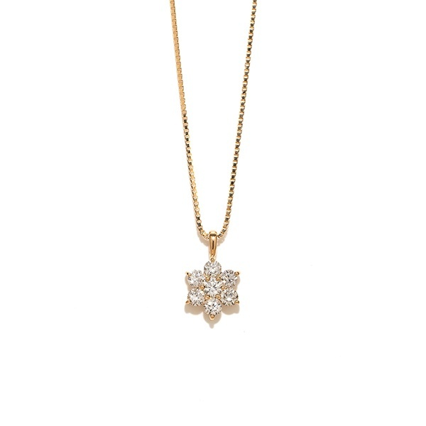 K18 イエローゴールド ダイヤモンド ネックレス(0.36ct)/エステール(ESTELLE)
