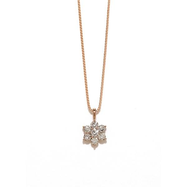 K18 ピンクゴールド ダイヤモンド ネックレス(0.36ct)/エステール(ESTELLE)
