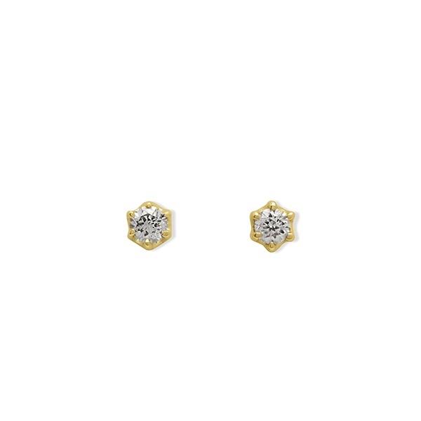 K10 イエローゴールド ダイヤモンド ピアス/エステール(ESTELLE)