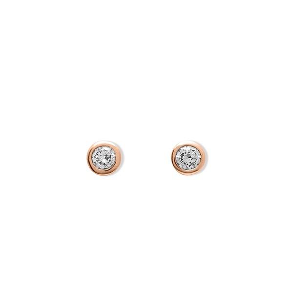 K10 ピンクゴールド ダイヤモンド ピアス/エステール(ESTELLE)