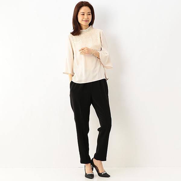 パール衿付きパンツスーツ/アシール(ASHILL)