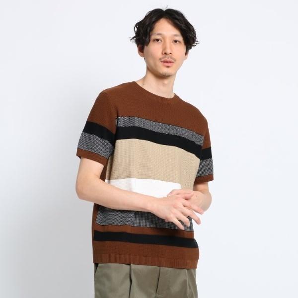 【Sサイズ~】パネルボーダーニットTシャツ/タケオキクチ(TAKEO KIKUCHI)