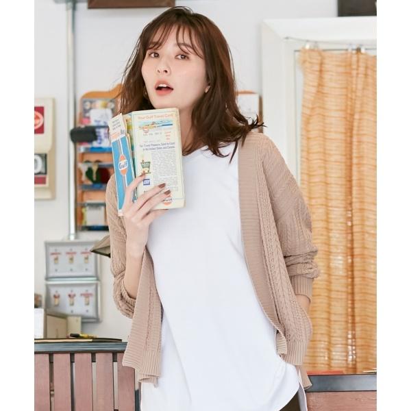 【洗える】コットンケーブル カーディガン/ジェイ・プレス レディース(J.PRESS LADIES)