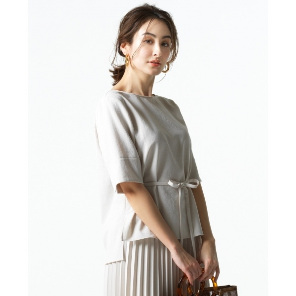 【Oggi5月号掲載】リネンライクベーシック ブラウス/組曲 S(KUMIKYOKU S)