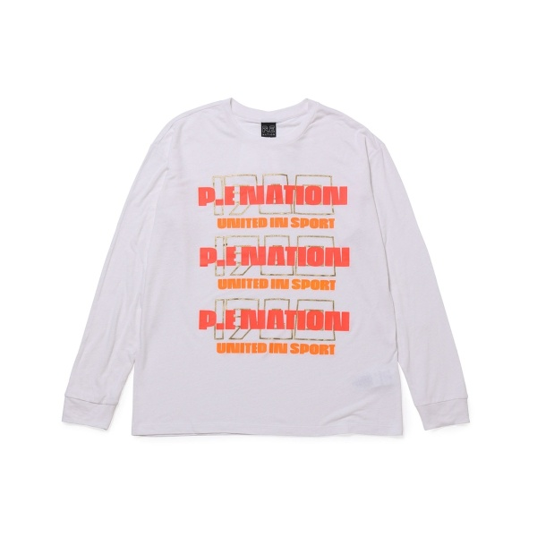 【P.E NATION】プリントロングスリーブTシャツ/ナージー(NERGY)