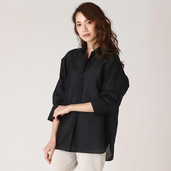 ウォッシャブルシルクローン透け襟抜きシャツ/ラエフ(la.f…)