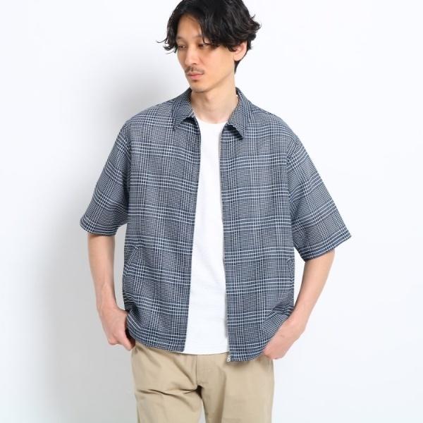 【Sサイズ~】メッシュドビーZIPシャツ/タケオキクチ(TAKEO KIKUCHI)