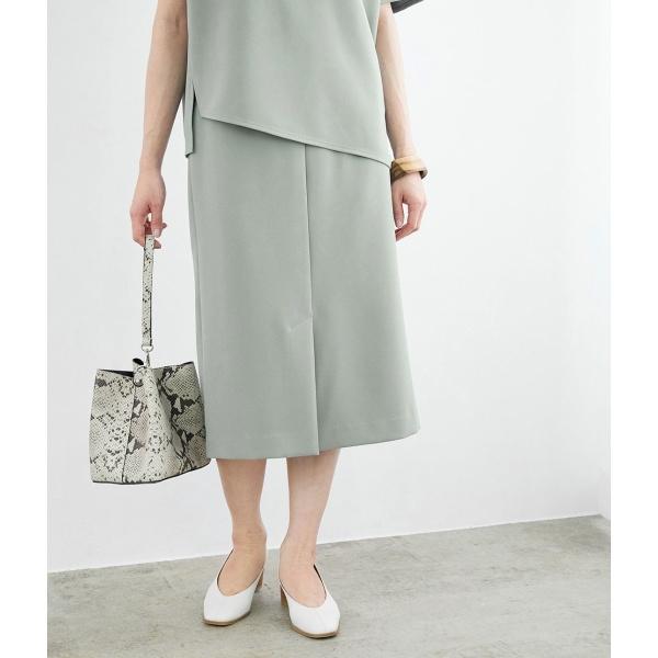 【セットアップ対応】センタースリットジョーゼットタイトスカート/ロペマドモアゼル(ROPE' mademoiselle)