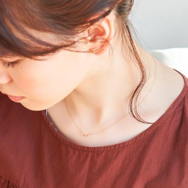 【K10】ローレルダイヤモンドネックレス/フィービィー(phoebe)