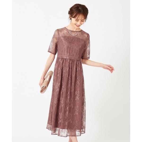 【洗える】エアリーチュールレース ドレス/エニィスィス Sサイズ(any SiS S)