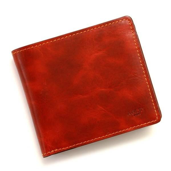 ラヴァン/キップワックス(レッド)【二つ折り財布 メンズ】/アジリティーアッファ(AGILITY Affa)
