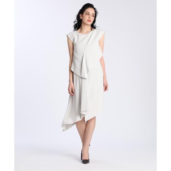 《M Maglie le cassetto》アシンメトリーデザインドレス/ef-de(エフデ)(ef-de)